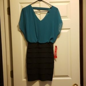Black and teal dress. Never worn!
